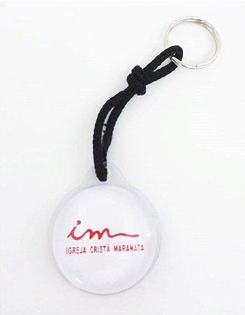 Chaveiro Redondo Branco com Líquido - ICM