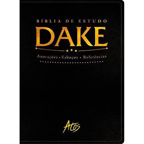 Bíblia de Estudo Dake  - CAPA Preta