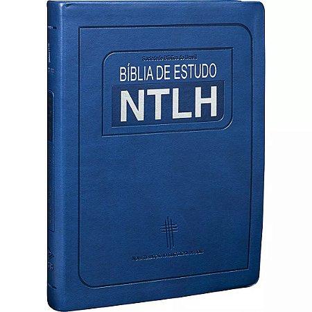 BÍBLIA DE ESTUDO NTLH - GRANDE AZUL