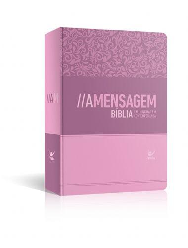 BÍBLIA A MENSAGEM SEMI -LUXO FEMININA ROSA