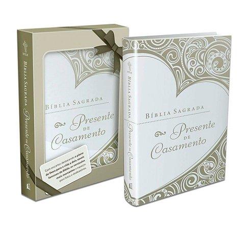 Bíblia Sagrada presente de casamento (capa dourada)
