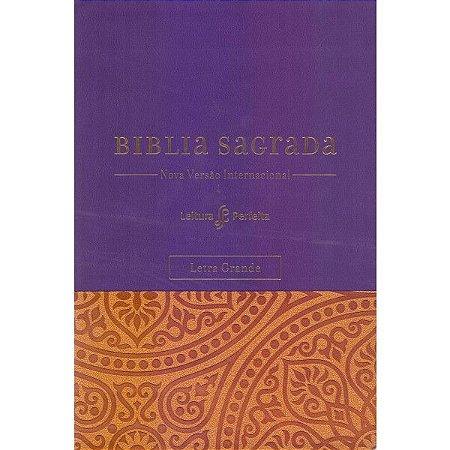 Bíblia Leitura Perfeita - Letra Grande com espaço para Anotações - Roxa