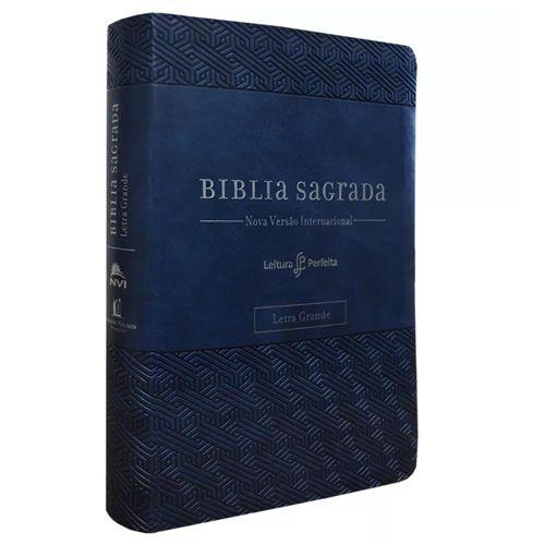 Bíblia Sagrada – Leitura Perfeita – NVI – Letra Grande – Espaço para anotações – Azul