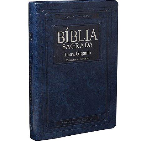 BÍBLIA SAGRADA LETRA GIGANTE - (ATUALIZADA) CAPA AZUL NOBRE
