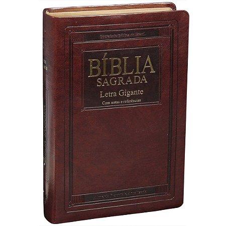 BÍBLIA SAGRADA LETRA GIGANTE - CAPA MARROM NOBRE