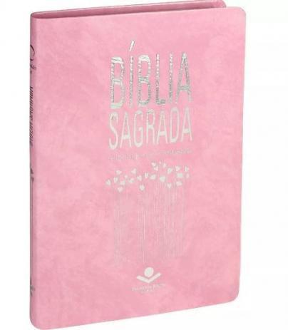Biblia Ultrafina Slim Emborrachada Almeida - Rosa Sbb
