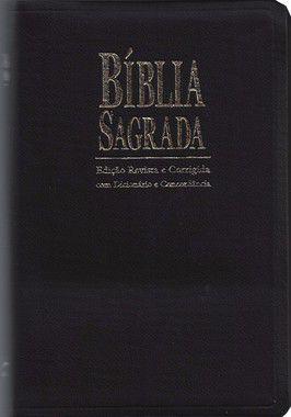 Bíblia Sagrada com Dicionário e Concordância - ICM Revista e Corrigida - Capa Preta