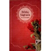 BÍBLIA SAGRADA EDIÇÃO DE BOLSO - VERMELHA - LUXO FEMININA - RC