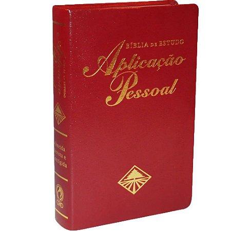 BÍBLIA DE ESTUDO APLICAÇÃO PESSOAL - MÉDIA - VINHO