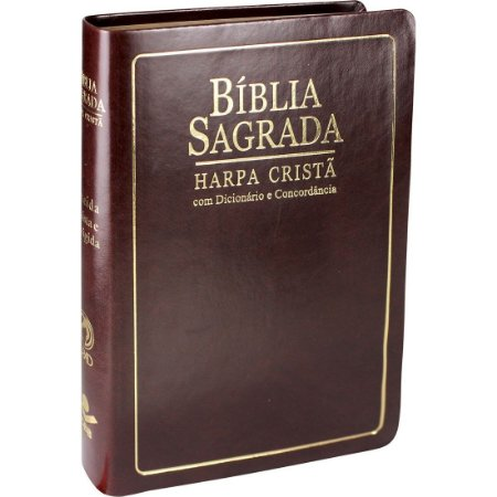 Bíblia Com Dicionário, Concordância e Harpa Cristã - Marrom