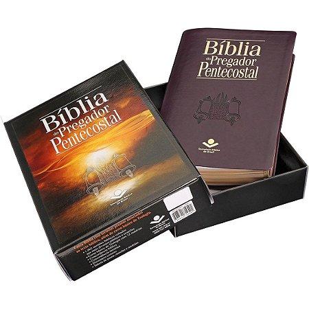 BÍBLIA PREGADOR PENTECOSTAL - RC - CAPA VINHO