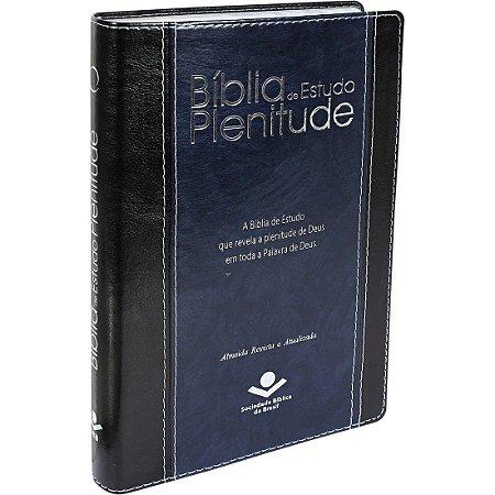 BÍBLIA ESTUDO PLENITUDE - CAPA AZUL NOBRE - RA