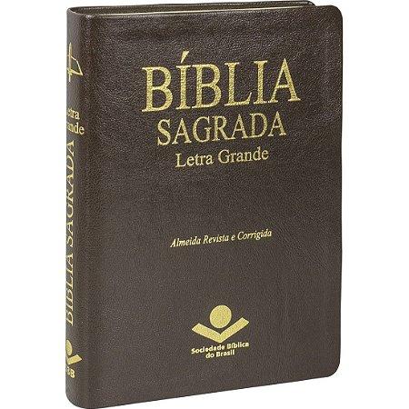 BÍBLIA LETRA GRANDE - ÍNDICE - MARROM
