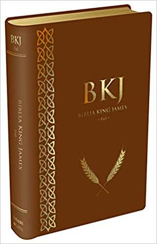 BÍBLIA KING JAMES FIEL 1611 - MARROM