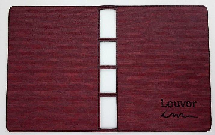 Capa para Coletânea ICM (não cifrada) - Vinho Riscado de Preto