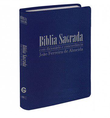 Bíblia com Dicionário e Concordância - RC- Letra Gigante - Azul Escuro