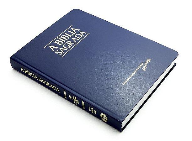 Bíblia ACF Letra Média Fina - Semi Luxo Azul