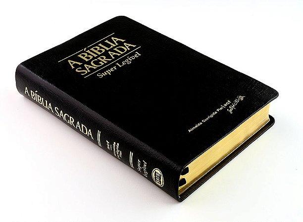 Bíblia ACF Super Legível - Couro Legítimo Preta