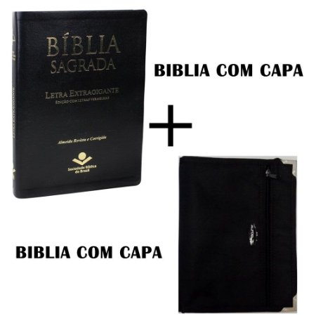 BÍBLIA SAGRADA LETRA EXTRAGIGANTE - COM CAPA ALFORJE