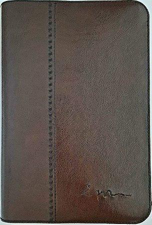 Capa de Bíblia ICM - Couro Ecológico - Chocolate