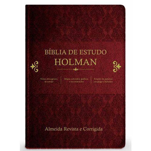 Bíblia De Estudo Holman - Vinho