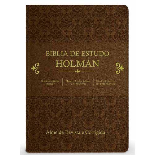 Bíblia De Estudo Holman - Marrom