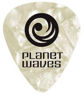 PALHETA PARA GUITARRA DE CELULOIDE - BRANCO PÉROLA - LEVE - PLANET WAVES