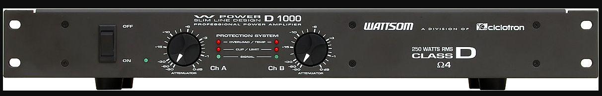AMPLIFICADOR 250 WATTS POTÊNCIA CICLOTRON ( W POWER D1000)