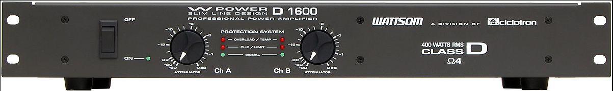 AMPLIFICADOR 400 WATTS POTÊNCIA CICLOTRON (W POWER D1600)