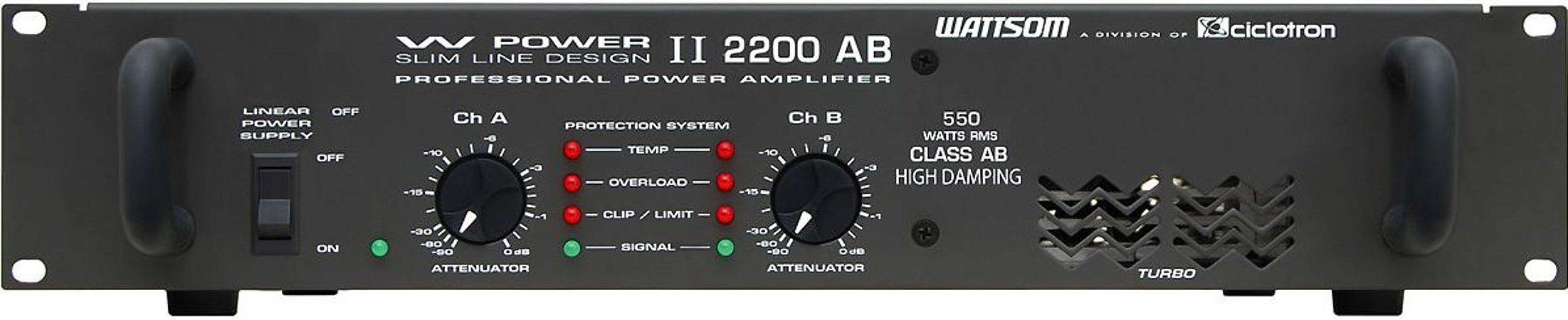 AMPLIFICADOR 550 WATTS POTÊNCIA CICLOTRON ( W POWER II 2200)