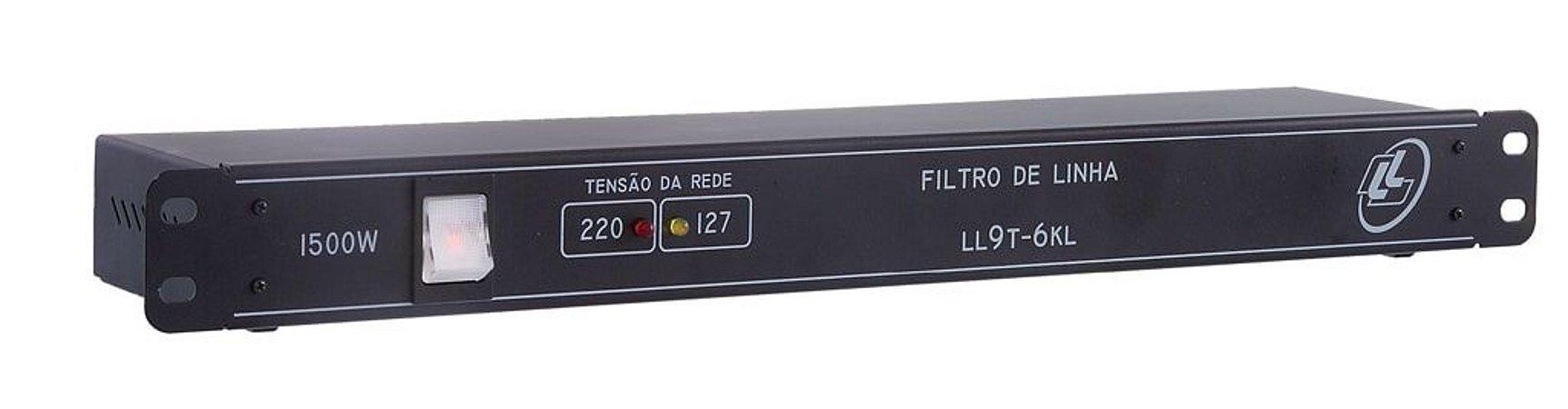 FILTRO DE LINHA PADRÃO ABNT-1500 EATS 09 TOMADAS LL9T6KL