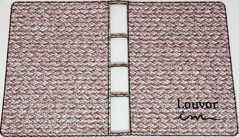 Capa para Coletânea ICM (não cifrada) - Marrom Claro Com Branco