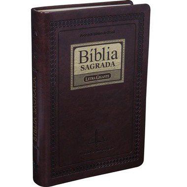 Bíblia Sagrada ICM - Letra GIGANTE - Revista e Corrigida - Marrom