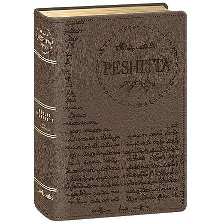 BÍBLIA PESHITTA COM REFERÊNCIAS MARROM