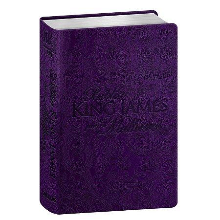 BÍBLIA KING JAMES PARA MULHERES - ROXO
