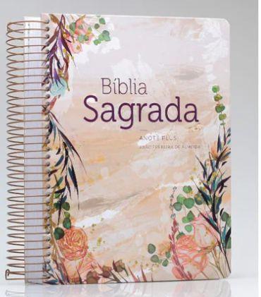 BIBLIA RC ANOTE PLUS ESPIRAL FLOR MARMORIZADA