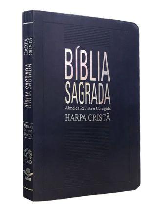 BIBLIA SLIM HARPA GRANDE LUXO (AZUL NOBRE)