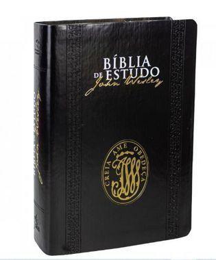 Bíblia de Estudo John Wesley | NAA | Letra normal | Capa Sintética | Preta