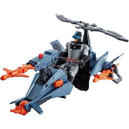 Liga da Justiça Batman 15cm e Batcoptero Filme - FNP65 - Mattel