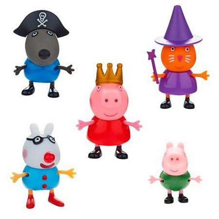Conjunto De 5 Figuras - Amigos Da Peppa Pig - Dtc 4200