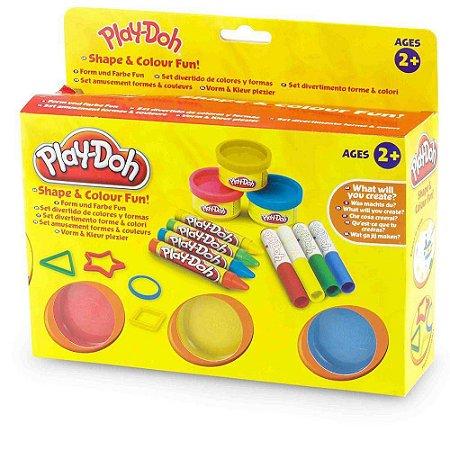Brinquedo Shape  Colour Fun Play-Doh 3938 - Dtc