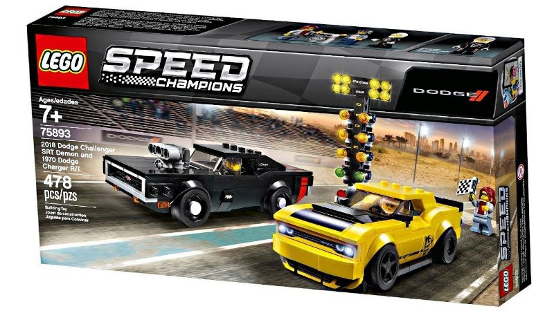 2018 Dodge Challenger e 1970 Dodge Charger R/T - LEGO 75893