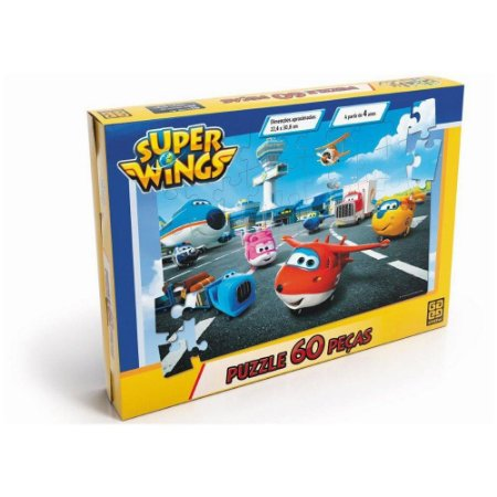 Quebra-Cabeça - 60 peças - Super Wings - Grow