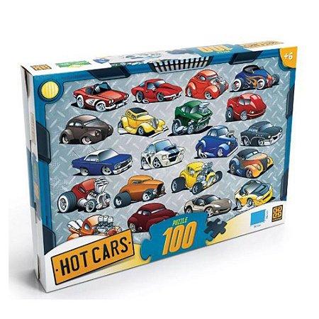 Quebra Cabeça Hot Cars - 100 Peças - Grow