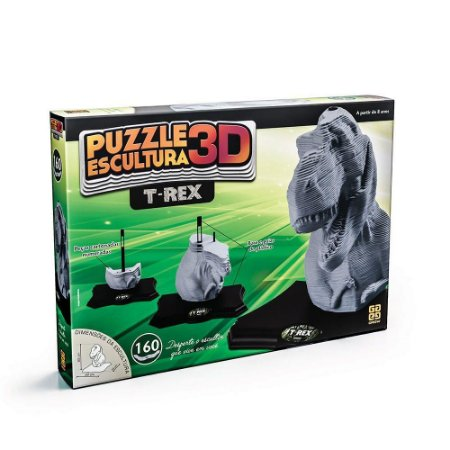 Quebra-Cabeça 3D - 160 Peças - Dinossauro T-Rex - Grow