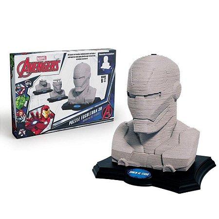 Quebra-Cabeça Escultura 3D Iron Man 160 Peças - Grow
