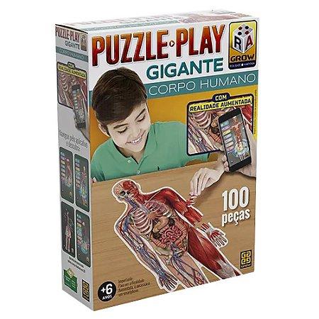 Quebra-Cabeça - Play Gigantes - Corpo Humano - Grow