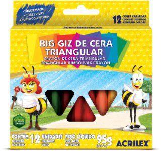 GIZ DE CERA GIZAO 12CORES TRIANGULAR - ACRILEX