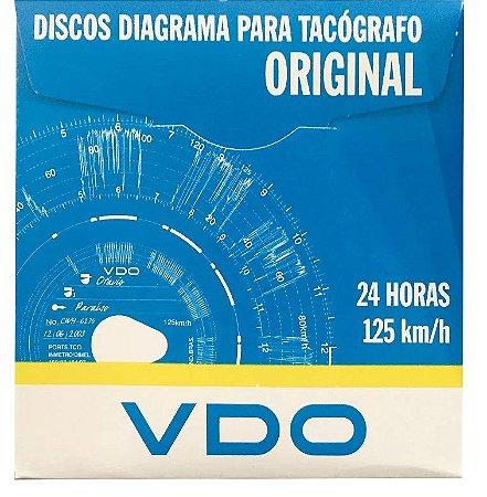 Disco Tacógrafo Diário 125 Km 1 Dia VDO - Caixa com 100
