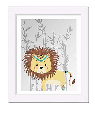 Quadro infantil leão